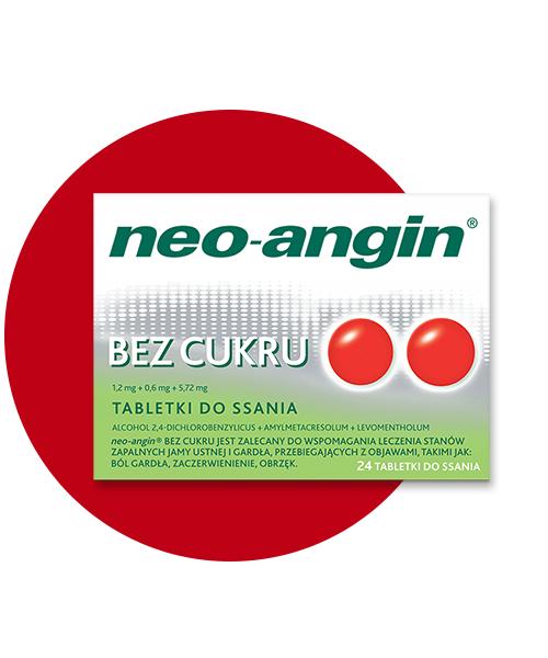Tabletki do ssania neo-angin® BEZ CUKRU